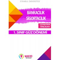 Auzef  ( uzaktan önlisans ) Bankacılık ve Sigortacılık 1. Sınıf (Güz Dönemi) Ders Kitapları