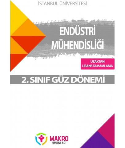 Auzef  ( uzaktan linsans tamamlama ) Endüstri Mühendisliği  2. Sınıf (Güz Dönemi) Ders Kitapları
