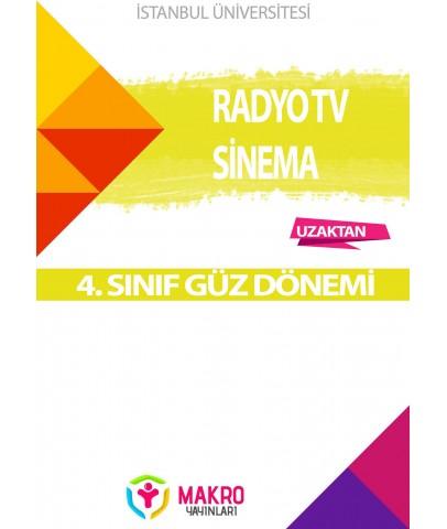 Auzef  (uzaktan) Radyo Tv Sinema 4. Sınıf (Güz Dönemi) Ders Kitapları