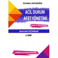 Auzef Acil Durum Ve Afet Yönetimi 2. Sınıf 4. Dönem (Bahar Dönemi) Ders Kitapları (6 kitap set fiyatı)