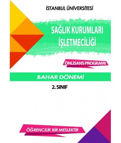 Auzef Sağlık Kurumları İşletmeciliği 2. Sınıf 4. Dönem (Bahar Dönemi) Ders Kitapları