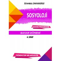 Auzef Sosyoloji 4. Sınıf 8. Dönem (Bahar Dönemi) Ders Kitapları (6 kitap set fiyatı)