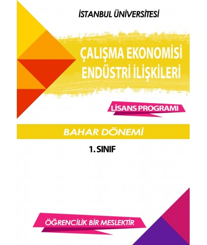 Auzef Çalışma Ekonomisi Ve Endüstri İlişkileri 1. Sınıf 2. Dönem (Bahar Dönemi) Ders Kitapları (7 kitap set fiyatı)
