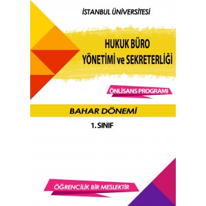 Auzef Hukuk Büro Yönetimi Ve Sekreterliği 1. Sınıf 2. Dönem (Bahar Dönemi) Ders Kitapları