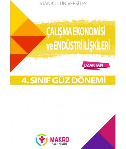 Auzef Çalışma Ekonomisi Ve Endüstri İlişkileri 4. Sınıf 1. Dönem (Güz Dönemi) Ders Kitapları