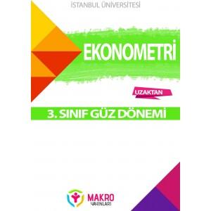 Auzef ekonometri 3. Sınıf 1. Dönem (Güz Dönemi) Ders Kitapları