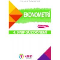 Auzef ekonometri 4.  Sınıf 1. Dönem (Güz Dönemi) Ders Kitapları
