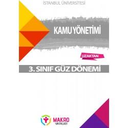 Auzef kamu yönetimi 3. Sınıf 1. Dönem (Güz Dönemi) Ders Kitapları