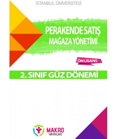 Auzef Perakende Satış Ve Mağaza Yönetimi 2. Sınıf  (GüzDönemi) Ders Kitapları