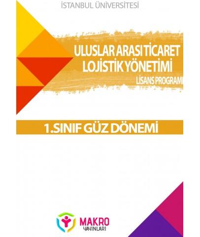 Auzef  Uluslararası Ticaret ve Lojistik Yönetimi1. Sınıf (Güz Dönemi) Ders Kitapları