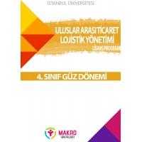 Auzef  Uluslararası Ticaret ve Lojistik Yönetimi4. Sınıf (Güz Dönemi) Ders Kitapları