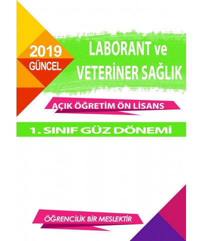 Auzef Laborant ve Veteriner Sağlık ön lisans 1. Sınıf  Güz Dönemi