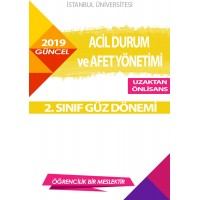 Auzef Acil Durum Ve Afet Yönetimi 2. Sınıf 1. Dönem (Güz Dönemi) Ders Kitapları