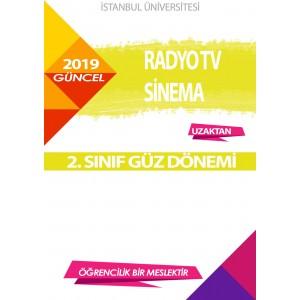 Auzef  (uzaktan) Radyo Tv Sinema 2. Sınıf (Güz Dönemi) Ders Kitapları