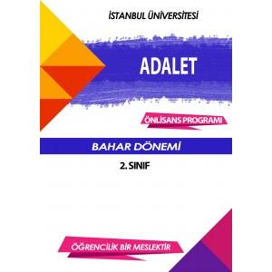 Auzef Adalet 2. Sınıf (Bahar Dönemi) Ders Kitapları