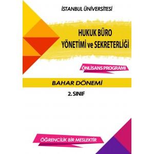 Auzef Hukuk Büro Yönetimi Ve Sekreterliği 2. Sınıf 4. Dönem (Bahar Dönemi) Ders Kitapları