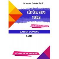 Auzef Kültürel Miras Ve Turizm 1. Sınıf 2. Dönem (Bahar Dönemi) Ders Kitapları