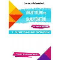 Siyaset Bilimi ve Kamu Yönetimi 1. Sınıf    (Bahar Dönemi) Ders Kitapları