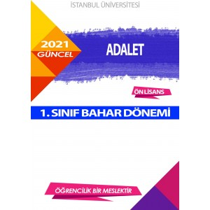 Auzef Adalet 1. Sınıf (Bahar Dönemi) Ders Kitapları