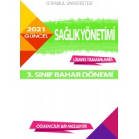 Auzef Sağlık Yönetimi 3. Sınıf 6. Dönem (Bahar Dönemi) Ders Kitapları