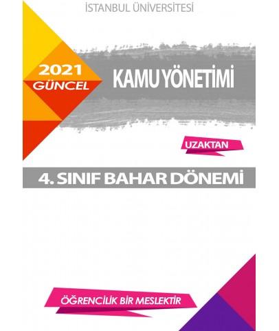 Auzef kamu yönetimi 4. Sınıf 8. Dönem (Bahar Dönemi) Ders Kitapları