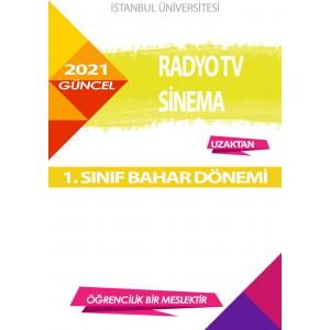 Auzef  (uzaktan) Radyo Tv Sinema 1. Sınıf (Bahar Dönemi) Ders Kitapları