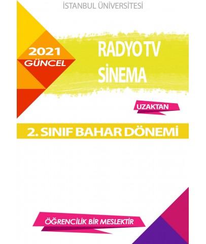 Auzef  (uzaktan) Radyo Tv Sinema 2. Sınıf (Bahar Dönemi) Ders Kitapları