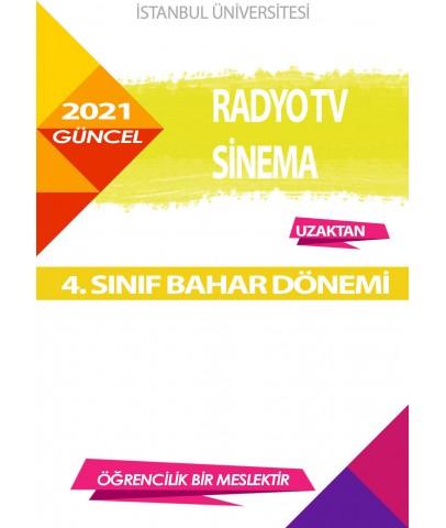Auzef  (uzaktan) Radyo Tv Sinema 4. Sınıf (Bahar Dönemi) Ders Kitapları
