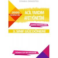 Auzef  Lisans Tamamlama  Acil Yardım Afet Yönetimi 3. Sınıf (Güz Dönemi) Ders Kitapları