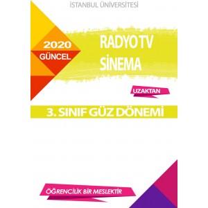 Auzef  (uzaktan) Radyo Tv Sinema 3. Sınıf (Güz Dönemi) Ders Kitapları
