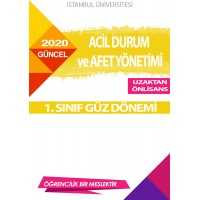 Auzef Acil Durum Ve Afet Yönetimi 1. Sınıf (Güz Dönemi) Ders Kitapları