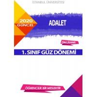 Auzef Adalet 1. Sınıf (Güz Dönemi) Ders Kitapları