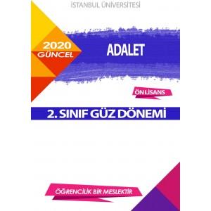 Auzef Adalet 2. Sınıf (Güz Dönemi) Ders Kitapları