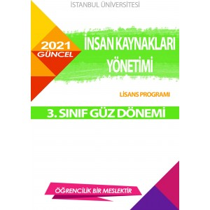*Auzef  insan Kaynakları Yönetimi 3. Sınıf (Lisans)  Güz Dönemi Ders Kitapları
