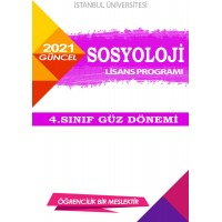 *Auzef Sosyoloji 4. Sınıf (Lisans) Güz Dönemi Ders Kitapları