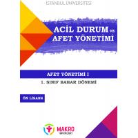 Acil Durum Ve Afet Yönetimi 1. Sınıf 2. Dönem (Bahar Dönemi) Ders Kitapları